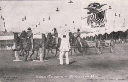 1908 St. Joseph Mo Army Artillery Troop Contest Postcard