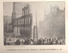 Townsend and Wyatt Dry Goods burned September 25th 1893