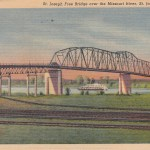 Missouri River Bridge Postcard