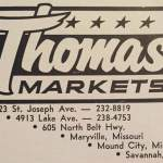 Thomas Market Lots of locations in 1970!