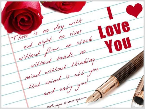 Romantic love notes for her