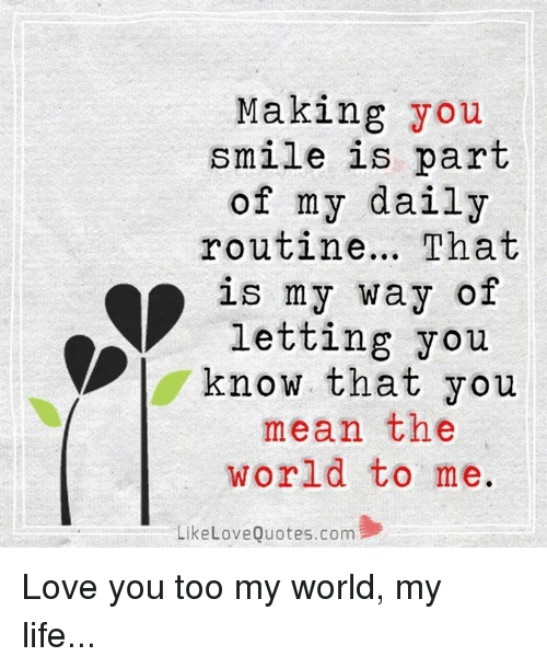 You Mean So Much To Me Quotes Images