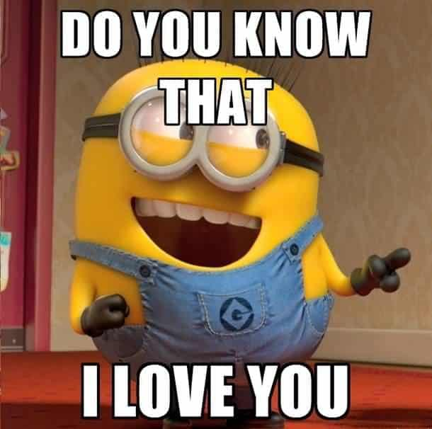 Do you know that i love you Love Meme minion?resize=487%2C483&ssl=1 50 funny love quotes, love memes and images for him and her