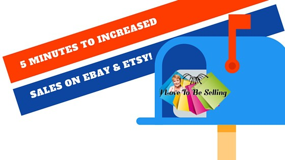 5 Minutes To Increased Sales on eBay And Etsy!