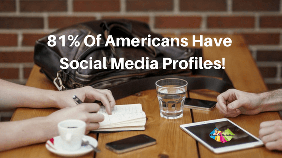 The majority of Americans have a social media profile. #Facebook