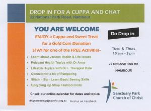 classes at Nambour op shop and drop in centre