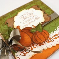 JustRite Papercrafts:  Fall Applique and Basket Weave Background Stamp