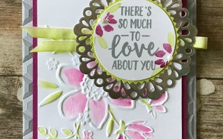 Happy Stampers Blog Hop: Lovely Florals Card