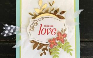Floral Frames Sending Love Card