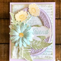 Daisy Lane Friend Card with Heirloom Frames