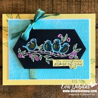 Colored Embossed Lines Technique for the Ink It! Stamp It! Design Team Blog Hop