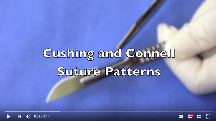 Cushing suture connel suture pattern video
