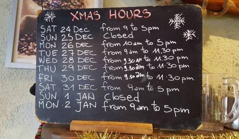 Christmas Opening Hours Howth