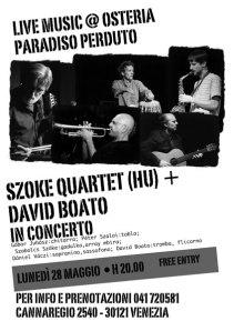 SZOKE QUARTET & DAVID BOATO   Ungheria e Italia
