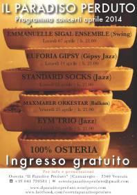 Concerti aprile 2014