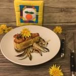 Tonno al curry con radicchio tardivo e fiori di tarassaco