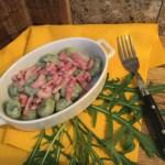 Gnocchi di rucola alla pancetta e parmigiano