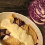 Crêpes al cavolo cappuccio viola, una ricetta a 4 mani