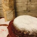 Torta al grano saraceno con confettura di lamponi