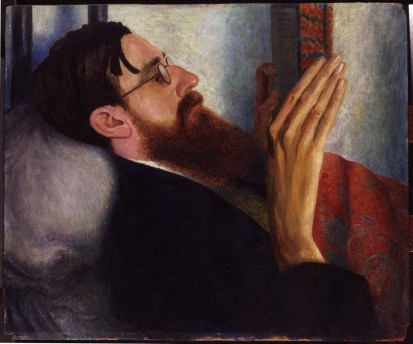 Dora Carrignton painted the Lytton Strachey, a homossexual writer who lived with her.