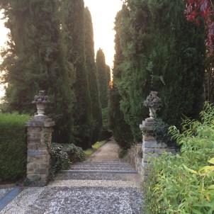 Pathway to the Poggio Verde park