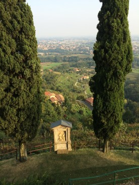 View from the steps to the church in Montevecchia