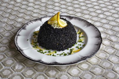 Cream Cheese and Caviar Aperitif will be served with crackers