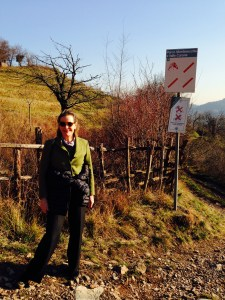 Gretchen in the Vineyards in Parco Curone