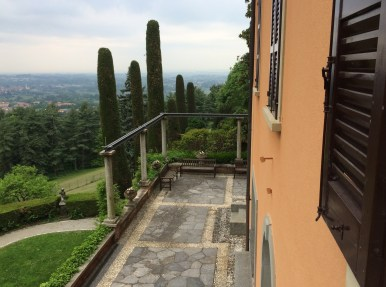 The south terrace of the villa