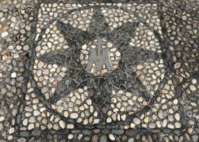 Outside the church in Montevecchia