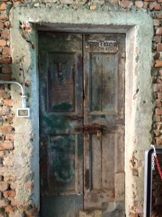 An interesting door in the garage