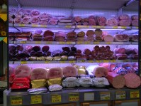 Cured meats at Rex Market