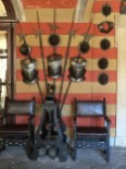 Armor in the entrance of the palazzo