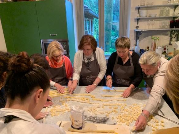 Cutting the gnocchi