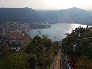 The view from the funicular