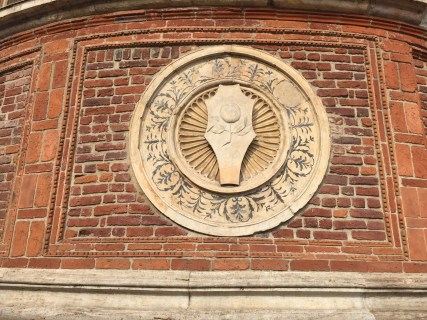 A detail on the side of the Santa Maria delle Grazie church