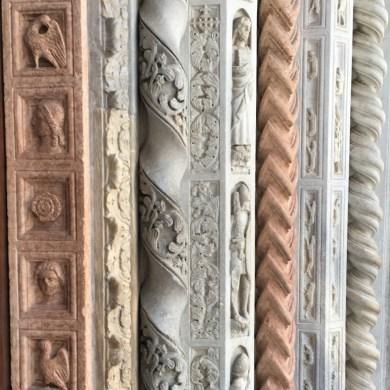 Door detail on the south portal of Basilica Santa Maria Maggiore