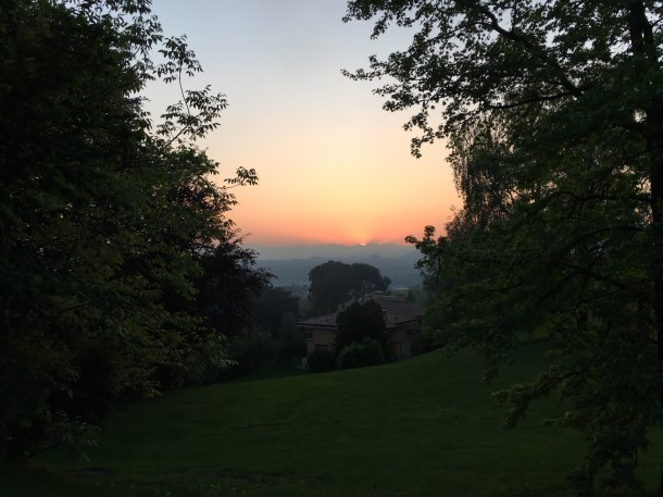 Sunset at Poggio Verde in May