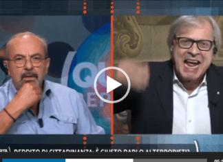 Vittorio Sgarbi e Vauro Senesi
