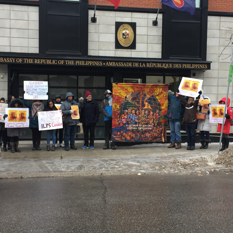Ottawa Filipino organizations, ILPS, and allies protest