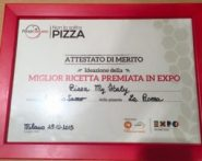Antonio Sacco primo posto per ideazione pizza a Expo 2015 attestato