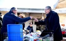 gianfranco librandi al mercato di limbiate