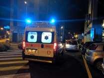 20190527 ambulanza croce azzurra notte via leopardi