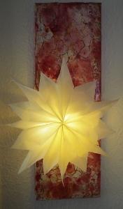 beleuchteter Butterbrottüten-Stern