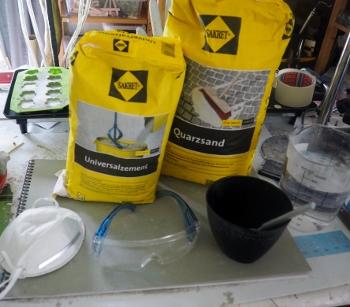 Zement, Sand, Wasser