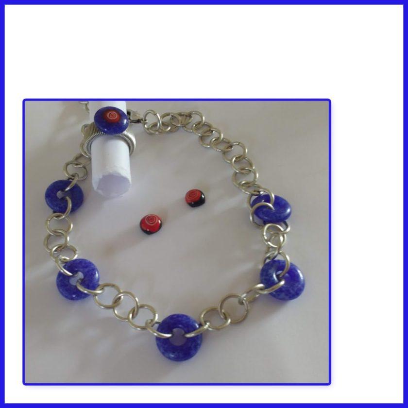 Blauer Glasring-Schmuck