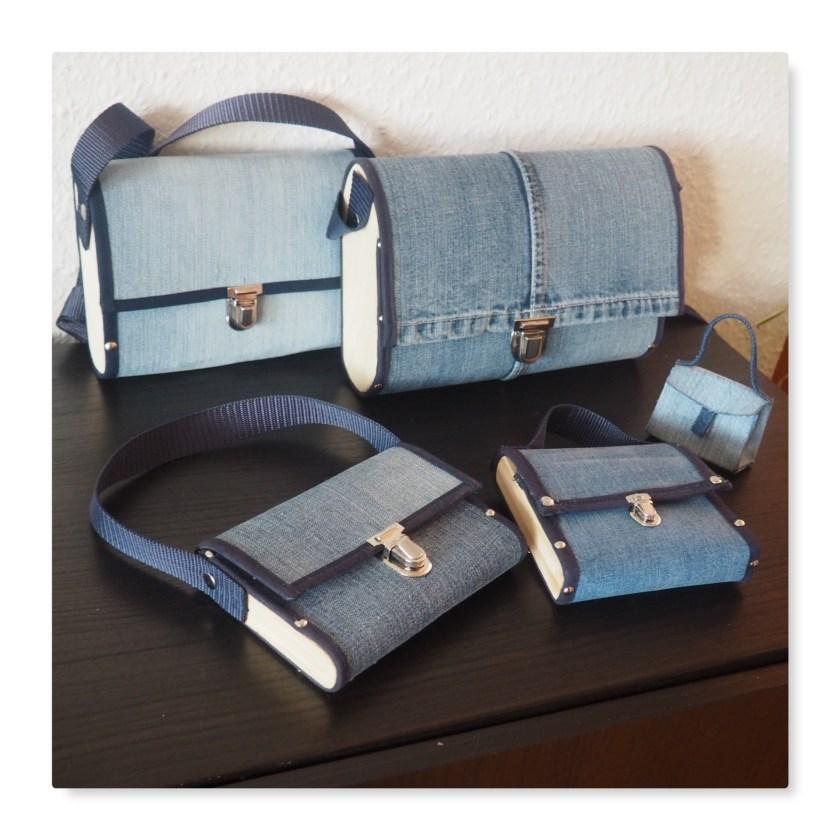 Jeans-Holz-Taschen und Micro-Bag