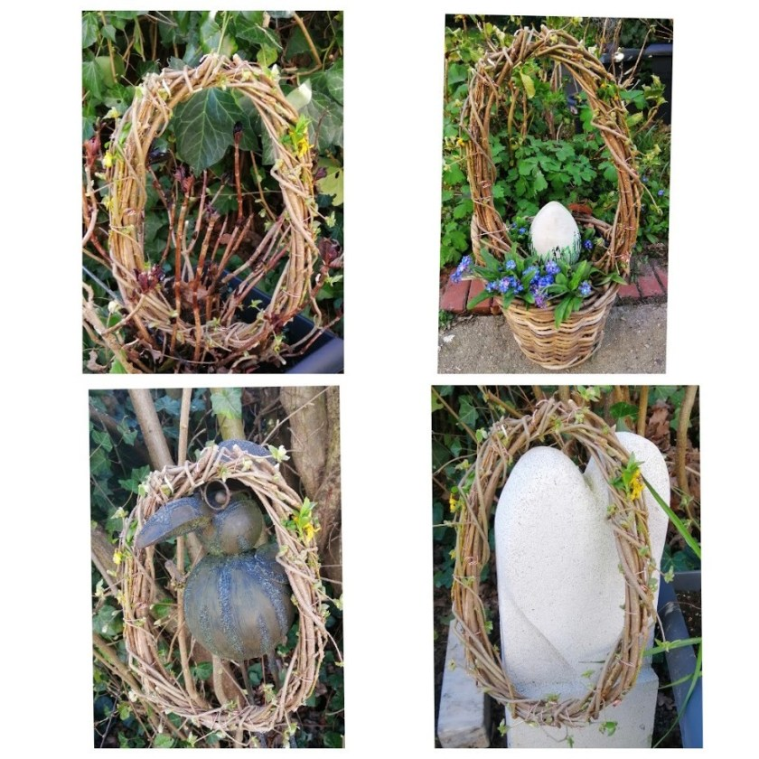 Ei aus Zweigen