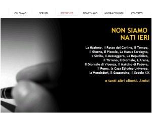 Il sito della Chil srl di Renzi che evidenzia i rapporti col mondo Berlusconiano. Meglio evidenziava fino a dieci mesi fa, Ora è scomparsa.