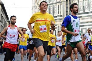 Renzi podista Firenze,'questa gara no facile,per Pd vediamo'